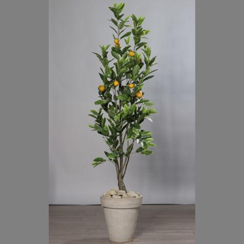 Lamai artificial decorativ in ghiveci din plastic - 180 cm